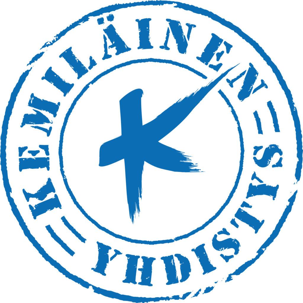 Kemiläinen yhdistys -tekstillä varustettu graafinen tunnus.