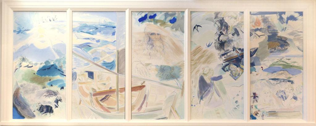 Leea Tiihonen-Pellegrinon maalaus Kemin kirjastossa
