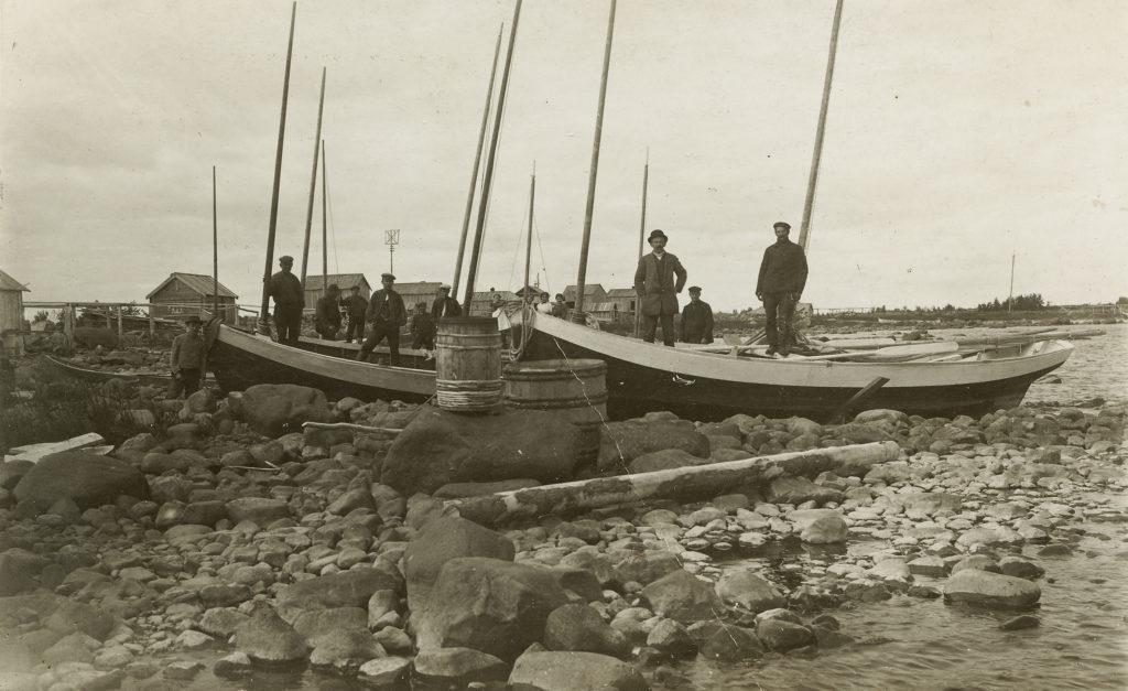 Fiskare på Sarvi ön på 1920-talet.