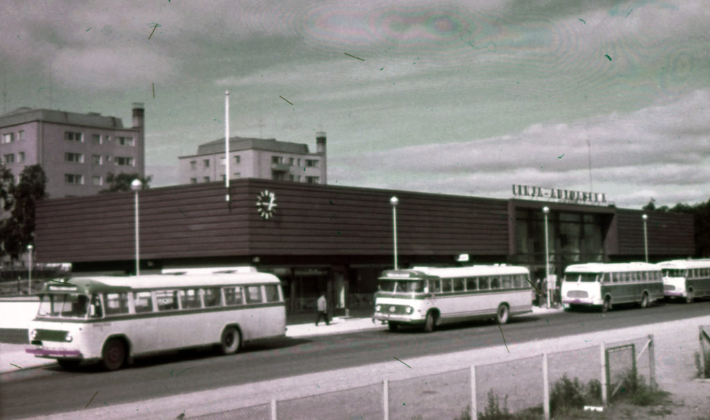 Busstation I Kemi.
