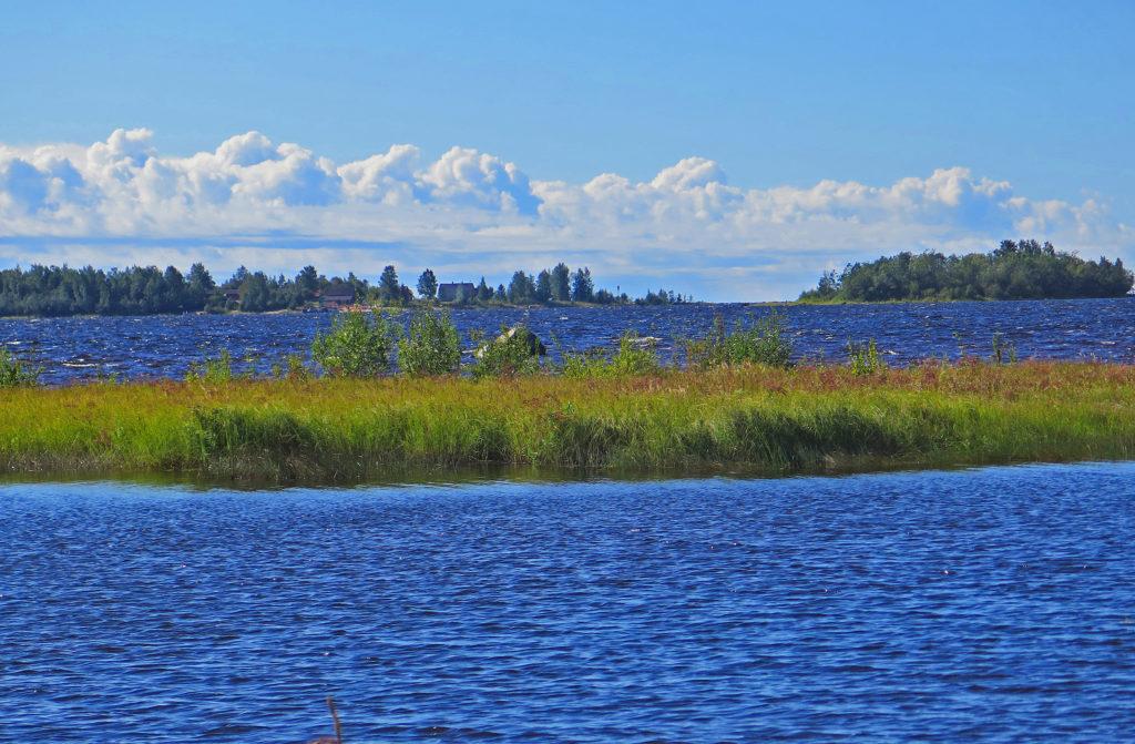 Merimaisemaa elokuun lopussa. Saaria ja vettä.