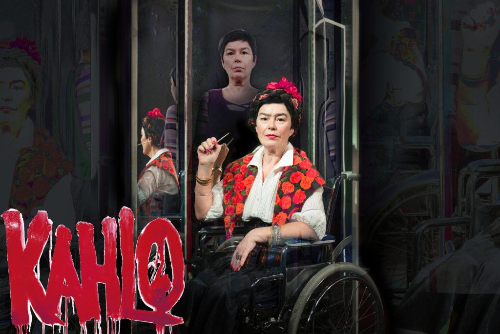 Frida Kahlo -teatteriesityksen mainosjuliste.