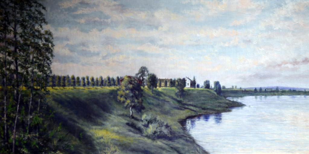 Valokuva Niemi-Niemelää esittävästä maalauksesta, jonka on maalannut Otto Vallenius vuonna 1916.